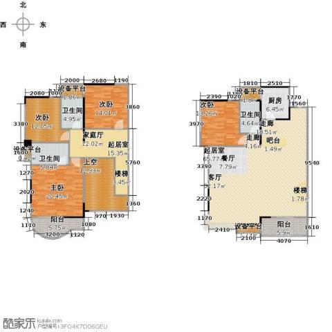 嘉豪公园世家4室0厅3卫1厨207.00㎡户型图