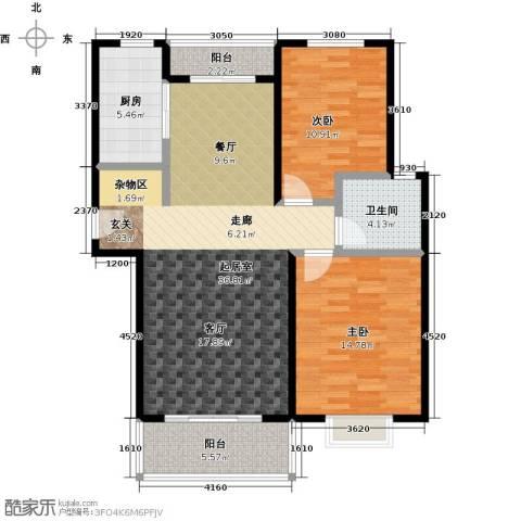 通田商住楼2室0厅1卫1厨100.00㎡户型图
