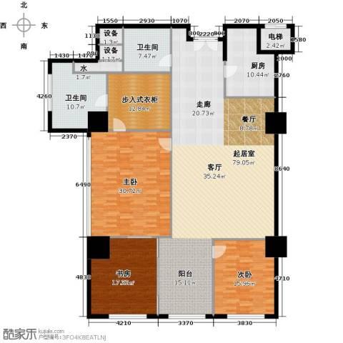 金成建国5号3室0厅2卫1厨210.60㎡户型图