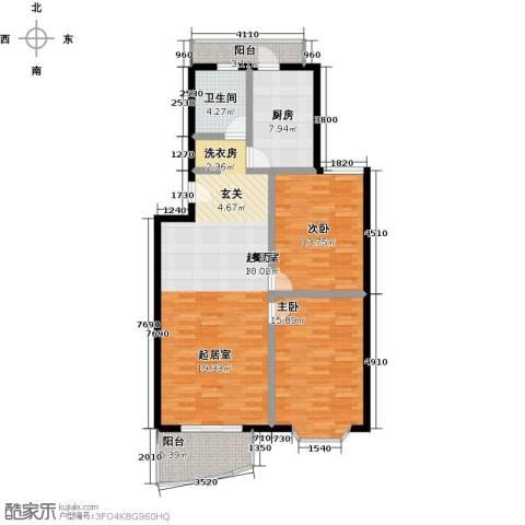 自然佳境2室0厅1卫1厨98.00㎡户型图