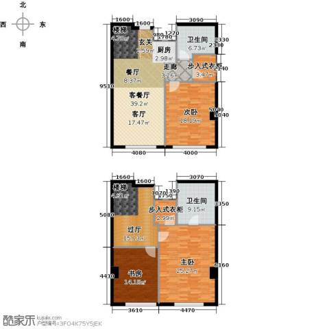 皇朝万鑫国际大厦3室1厅2卫0厨200.00㎡户型图