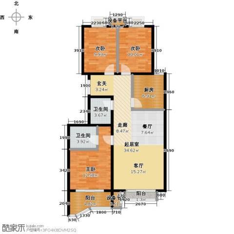 风景Club3室0厅2卫1厨125.00㎡户型图