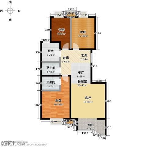 风景Club3室0厅2卫1厨119.00㎡户型图