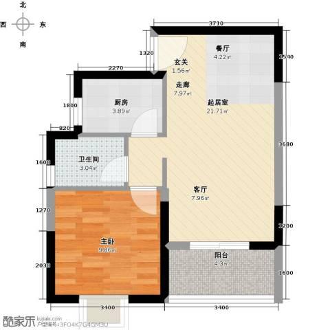 福隆花园1室0厅1卫1厨61.00㎡户型图