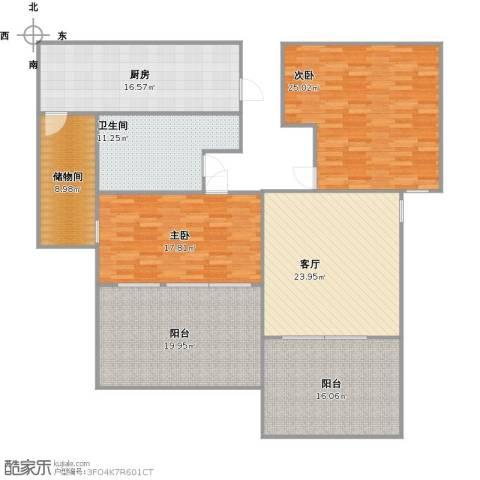 云立方2室1厅1卫1厨185.00㎡户型图
