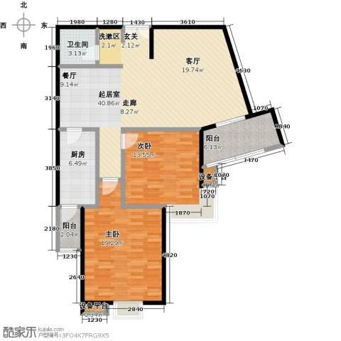 逸都城市岛2室0厅1卫1厨103.00㎡户型图