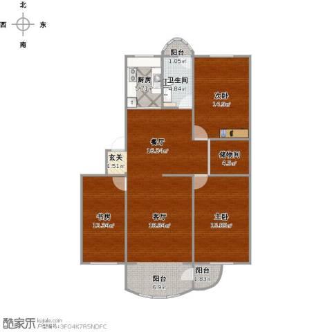茗景园3室1厅1卫1厨140.00㎡户型图