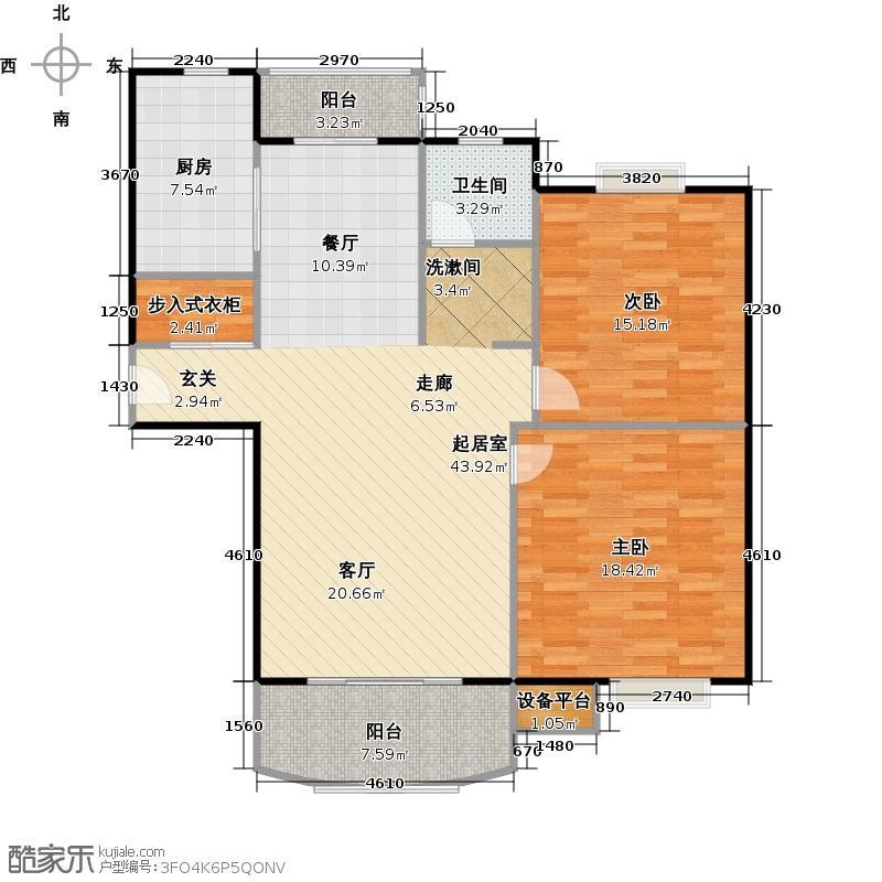 北宸佳苑 曲阳首府110.00㎡房型: 二房; 面积段: 110 -120 平方米;户型