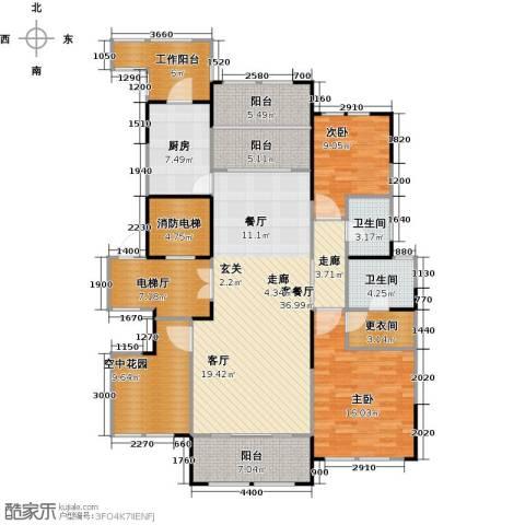 金融世家2室1厅2卫1厨140.00㎡户型图