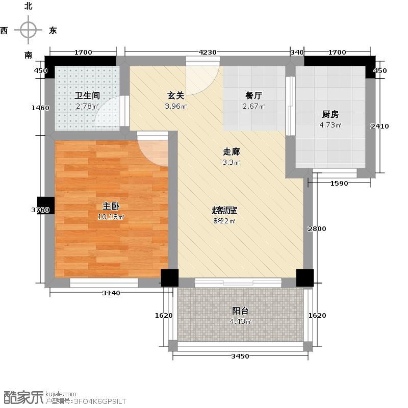 金太阳米兰小镇45.00㎡:一房面积段:45-55平方米S