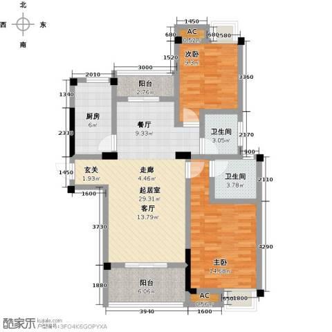 金太阳米兰小镇2室0厅2卫1厨90.00㎡户型图