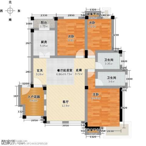 金太阳米兰小镇3室0厅2卫1厨90.00㎡户型图