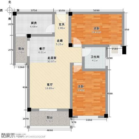 金太阳米兰小镇2室0厅1卫1厨90.00㎡户型图