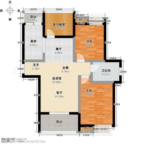 金太阳米兰小镇2室0厅1卫1厨96.00㎡户型图