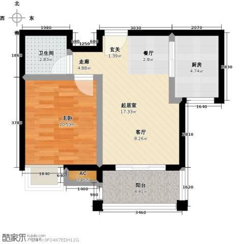 金太阳米兰小镇1室0厅1卫1厨48.00㎡户型图