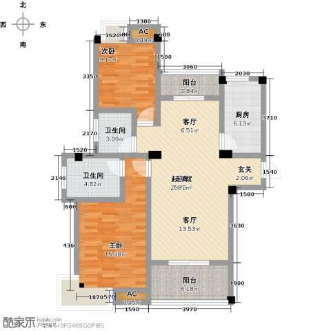 金太阳米兰小镇2室0厅2卫1厨92.60㎡户型图