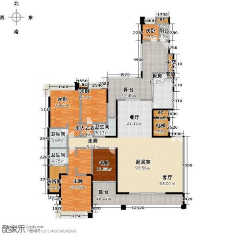 五洲花城二期5室0厅3卫1厨288.00㎡户型图
