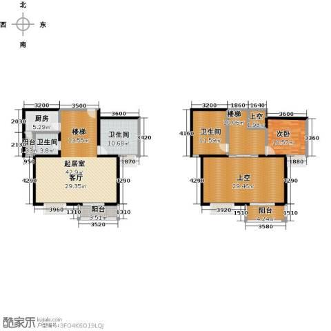 伊顿玫瑰公寓1室0厅3卫1厨193.00㎡户型图