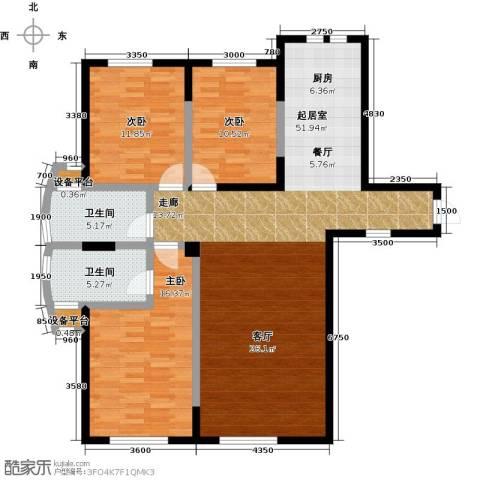 华侨御景湾3室0厅2卫0厨140.00㎡户型图