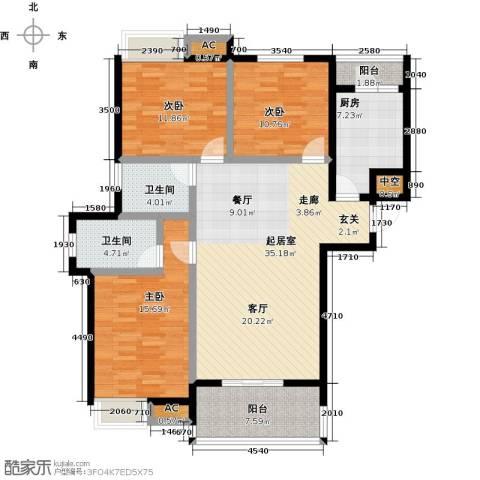 金太阳米兰小镇3室0厅2卫1厨116.97㎡户型图