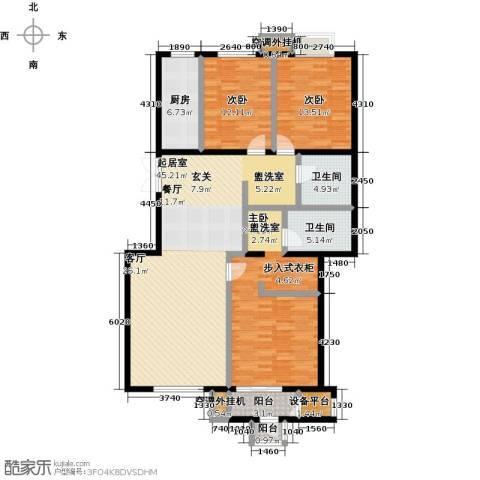远洋自然3室0厅2卫1厨137.00㎡户型图