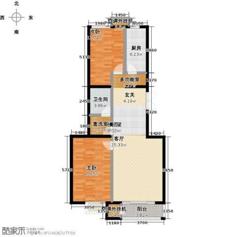 远洋自然2室0厅1卫1厨108.00㎡户型图