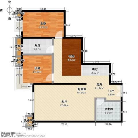 风景Club2室0厅1卫1厨117.00㎡户型图