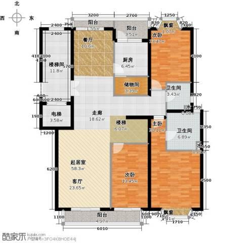 汤泉逸墅3室0厅2卫1厨197.00㎡户型图