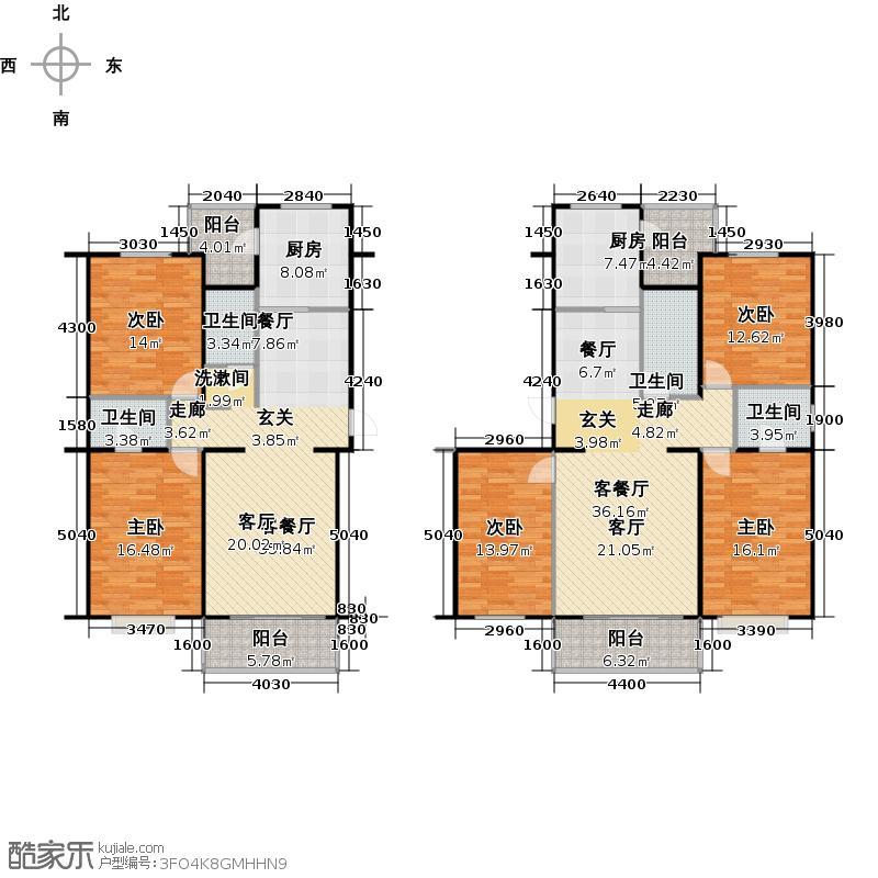 富锦嘉园5区5号楼F4户型