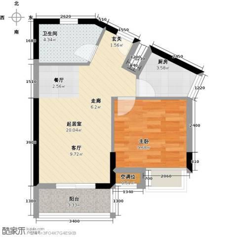 福隆花园1室0厅1卫1厨60.00㎡户型图