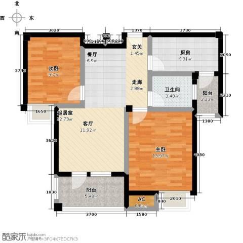 金太阳米兰小镇2室0厅1卫1厨76.00㎡户型图