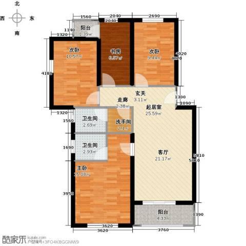 祥和精典4室0厅2卫0厨119.00㎡户型图
