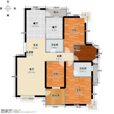 观山亲庭4室1厅2卫0厨160.00㎡户型图