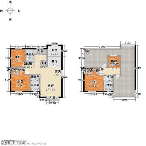 溪语原筑1室1厅5卫1厨186.25㎡户型图