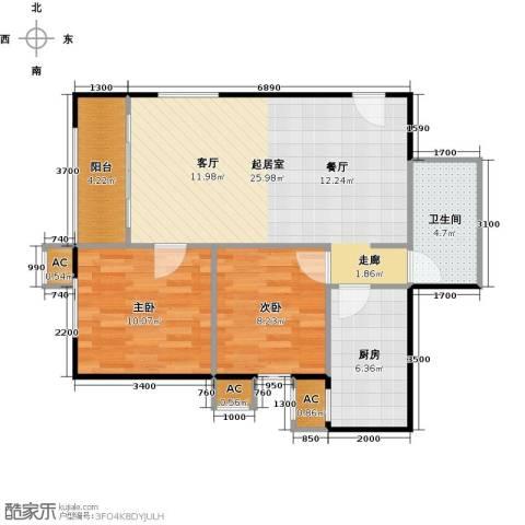 圣淘沙2室0厅1卫1厨83.00㎡户型图