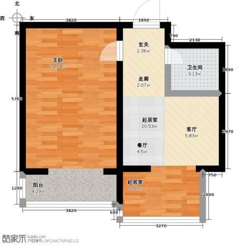 北苑绿洲1室0厅1卫0厨56.00㎡户型图