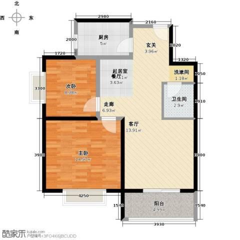 奇星御园2室0厅1卫1厨89.00㎡户型图