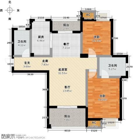 金太阳米兰小镇2室0厅2卫1厨99.00㎡户型图