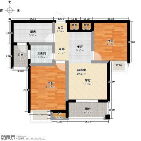 金太阳米兰小镇2室0厅1卫1厨79.00㎡户型图
