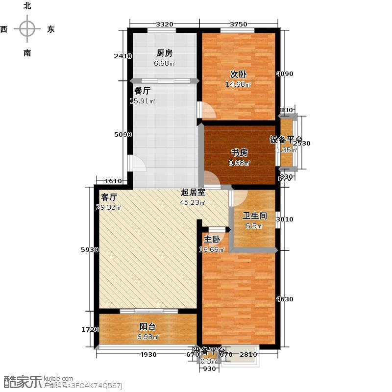 昭华锦城122.71㎡D01户型两室两厅一卫户型2室2厅1卫
