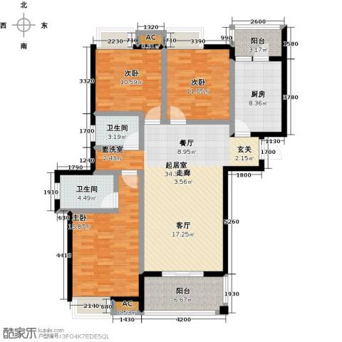 金太阳米兰小镇3室0厅2卫1厨115.00㎡户型图
