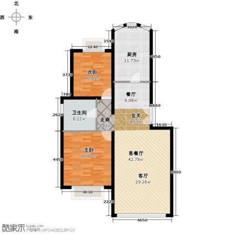 运河明珠家园2室1厅1卫1厨97.00㎡户型图