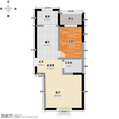 奇星御园1室0厅1卫1厨52.07㎡户型图