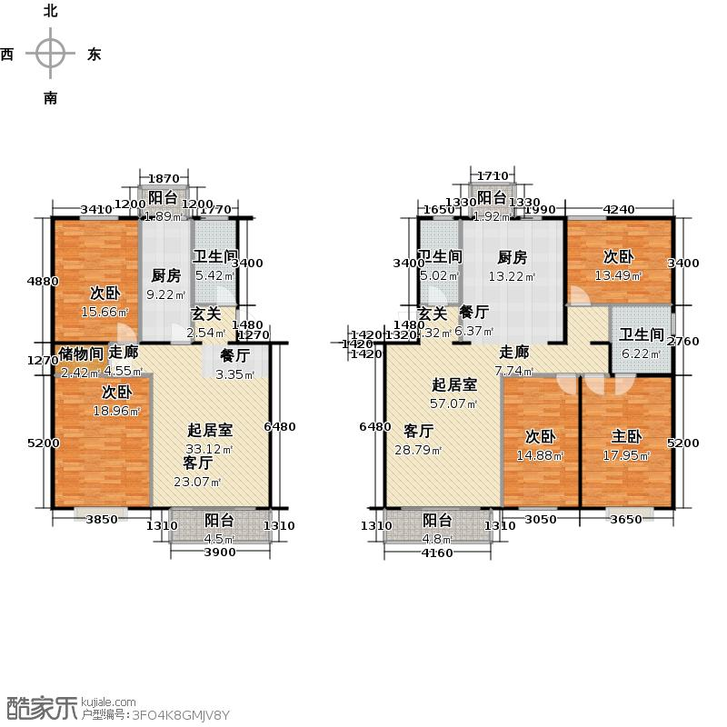 富锦嘉园5区2号楼F7户型