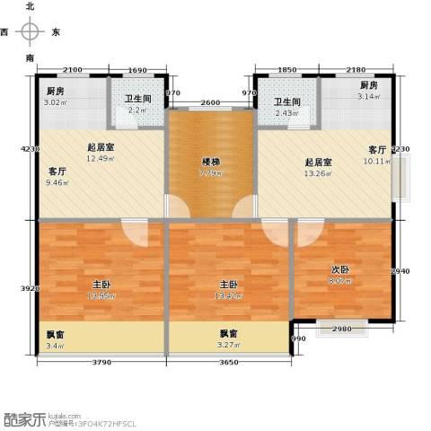 黄海齐鲁花园3室0厅2卫0厨79.00㎡户型图