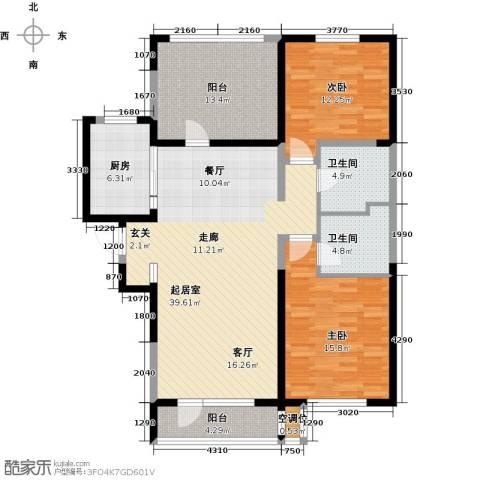 汇置公园里・怡林2室0厅2卫1厨116.00㎡户型图
