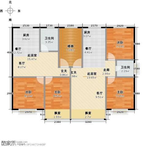 黄海齐鲁花园4室0厅2卫0厨90.00㎡户型图