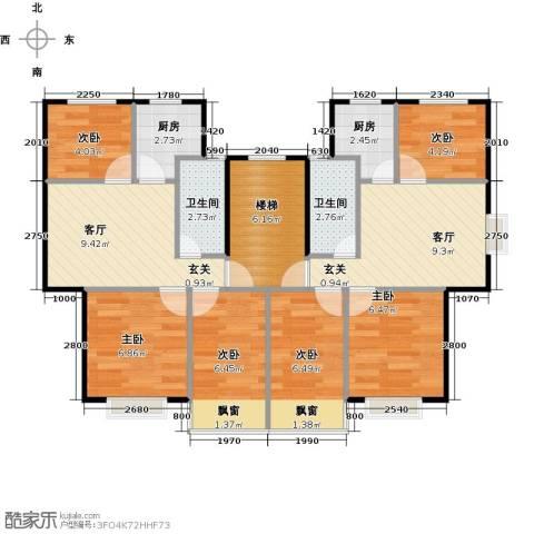 黄海齐鲁花园6室2厅2卫2厨80.00㎡户型图