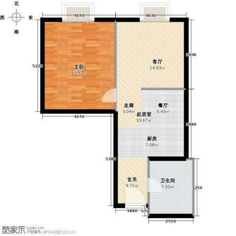阿波罗公馆1室0厅1卫0厨67.00㎡户型图