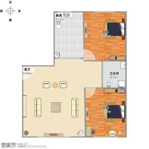 天福新城2室1厅1卫1厨191.00㎡户型图